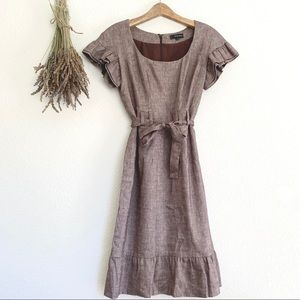 Alvin Valley Linen Ruffle Dress